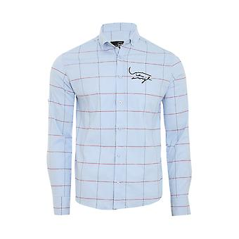 Tazzio fashion shirt men's leisure shirt light blue G-705