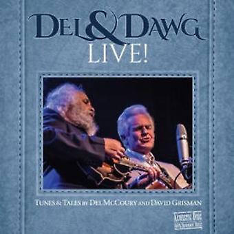Del McCoury & David Grisman - Del & Dawg Live [CD] USA importerer