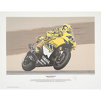 Neil Taylor Laguna Sunrise By Neil Taylor- Valentino Rossi