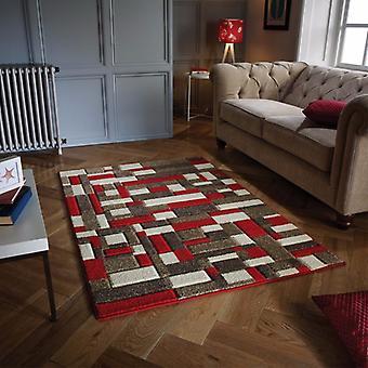 Portland 1098 R rectángulo rojo Beige alfombras alfombras modernas