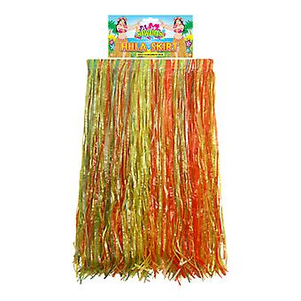 Hawaiian Adult Multi-Coloured Hula Grass Skirt Fancy Dress Accessory