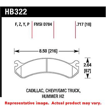 Hawk Truck/SUV Brake Pads HB322P.717 Fits:CADILLAC 2000 - 2005 DEVILLE  Positio