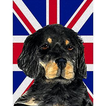 Gordon Setter met Engels Unie Jack Britse vlag vlag tuin grootte
