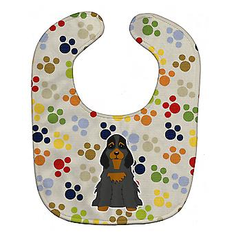 Carolines Treasures  BB5922BIB Pawprints Cocker Spaniel Black Tan Baby Bib