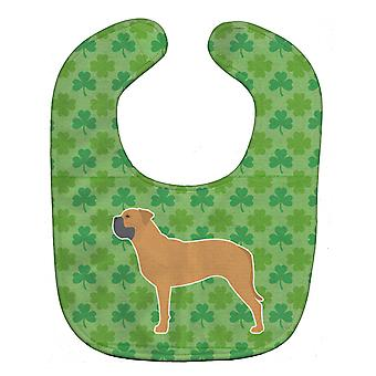 Carolines Treasures  BB6476BIB Bullmastiff Shamrocks  Baby Bib