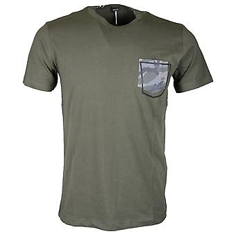 Replay M3327 Slim Fit Round Neck Green T-shirt