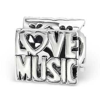 Love Music - 925 Sterling Silver Plain Beads