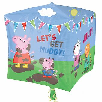Amscan Supershape Peppa Pig & Friends Cubez Balloon