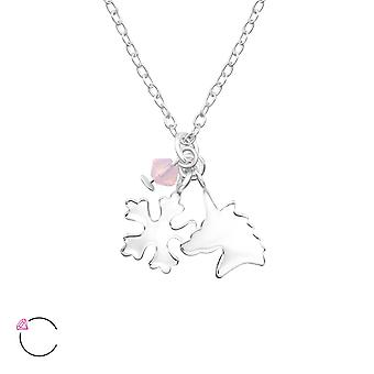 Unicorn And Snowflake crystal from Swarovski® - 925 Sterling Silver Children's Jewellery