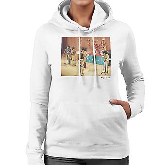 The Jackson 5 At The Royal Variety Performance White Women's Hooded Sweatshirt