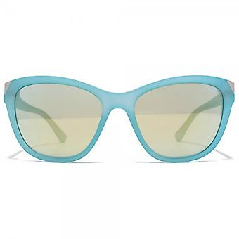 Guess Metal Peak Cateye Sunglasses In Matte Light Blue