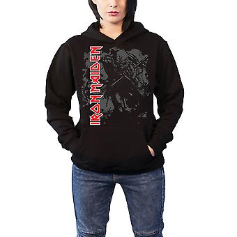 Iron Maiden Womens Hoodie Black Pullover Sketched Trooper Official design