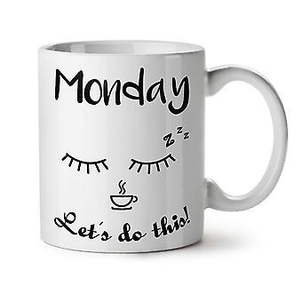 Mandag kaffe denne nye hvide te kaffe keramik krus 11 ounce | Wellcoda