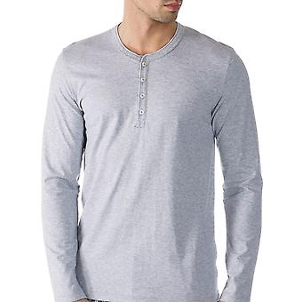 Mey 61564-620 Men's Single Grey Solid Colour Pajama Pyjama Top