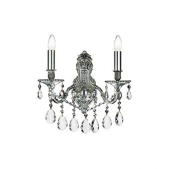 Ideal Lux Gioconda Traditional Wall Light With Diamante Design