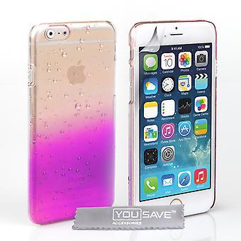 Yousave akcesoria Iphone 6 i 6s kropla deszczu Hard Case - fioletowy Clear