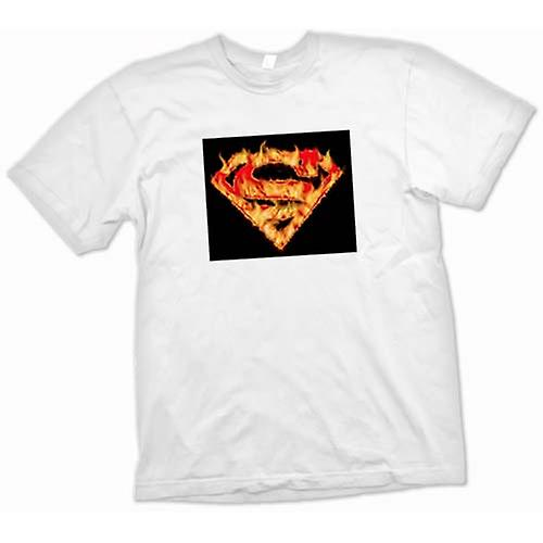 Mens t-skjorte - Superman - flammen Logo
