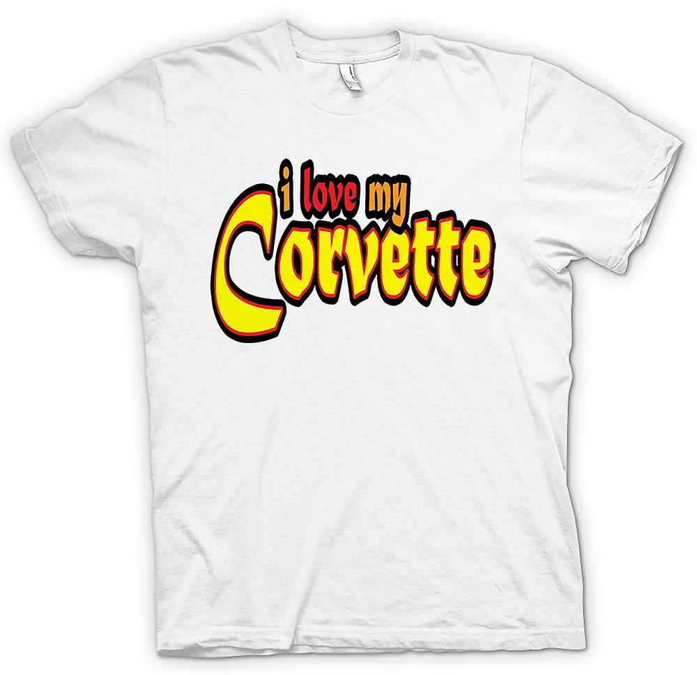 Womens T-shirt - I Love My Corvette - Car Enthusiast