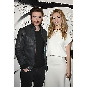 Richard Madden Lily James In Attendance For Aol Build Speaker Series DisneyS Cinderella Aol Headquarters New York Ny March 9 2015 Photo By Derek StormEverett Collection Celebrity