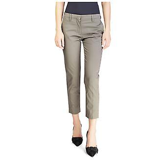 Miu Miu Women's Cotton Slim Fit Chino Pants Green