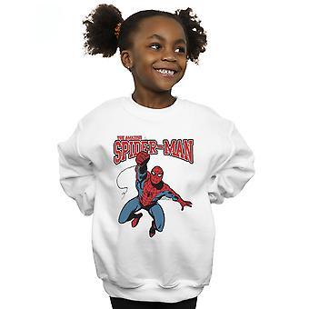 Marvel Mädchen Spiderman Sprung Sweatshirt