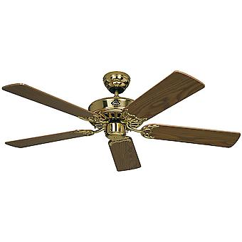 Ceiling fan Classic ROYAL Brass polished with pull cord 75 cm to 132 cm / 30