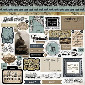 Old World Travel Cardstock Stickers 12