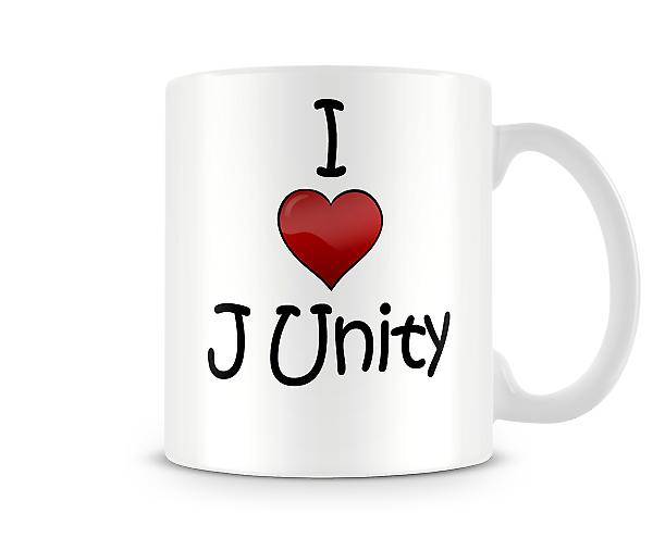 Ich liebe J Unity Printed Tasse