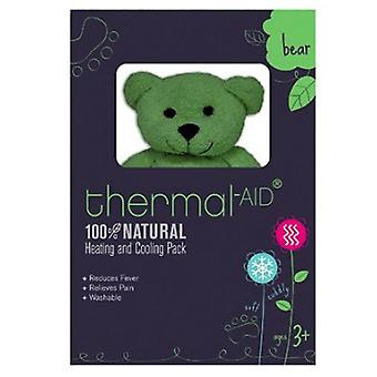 Thermal-aid Heating & Cooling Bear, Green, 1 Ea