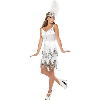 Costumes femme Sexy charleston robe blanches