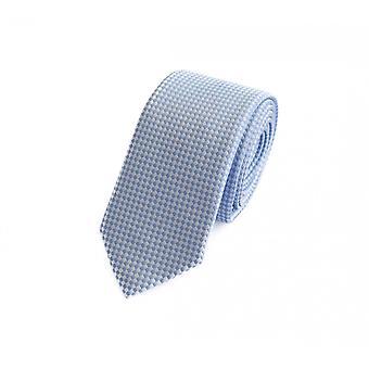 Tie stropdas stropdas tie 6cm licht blauw wit geruit Fabio Farini