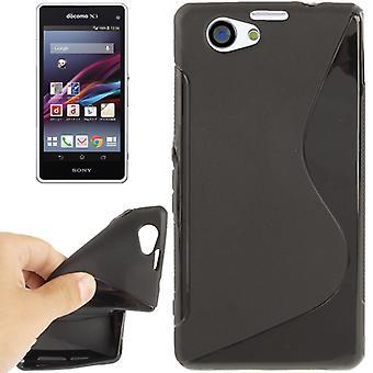 Handyhülle TPU Case für Sony Xperia Z1S / Z1 mini schwarz