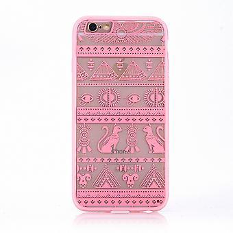 Mobile cassa mandala per motivo di Apple iPhone 7 design custodia borsa di caratteri egiziano copertura paraurti Rosa