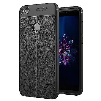 Cell phone cover case voor Huawei P8 Lite 2017 afdekkader ingebouwd Pouch zwart