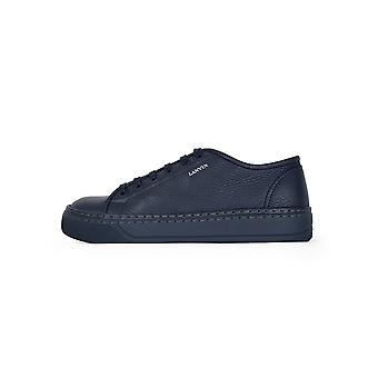 Lanvin Lanvin azul grano Toro becerro bajo Sneaker