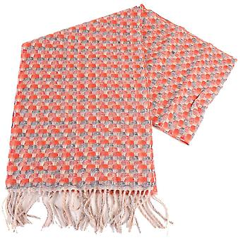 Bassin and Brown Best Plaited Cashmere Scarf - Red/Grey