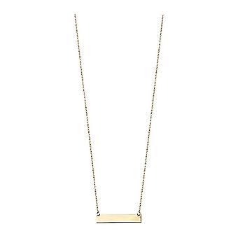 Elements Gold Engravable Bar Necklace - Gold