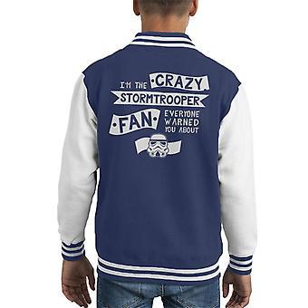 Opprinnelige Stormtrooper Crazy Fan barneklubb Varsity jakke