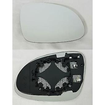 Right Driver Side Mirror Glass (Heated) & Holder For Volkswagen TIGUAN 2007-2017