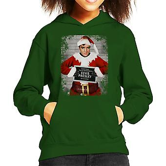 Christmas Mugshot Elvis Presley Kid's Hooded Sweatshirt