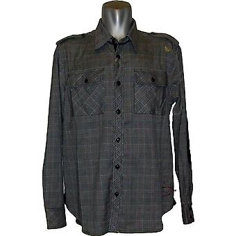 Sabit Glen L/S Woven Shirt Black