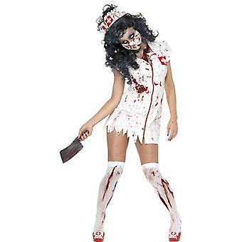 Zombie Nurse Costume, UK Dress 12-14