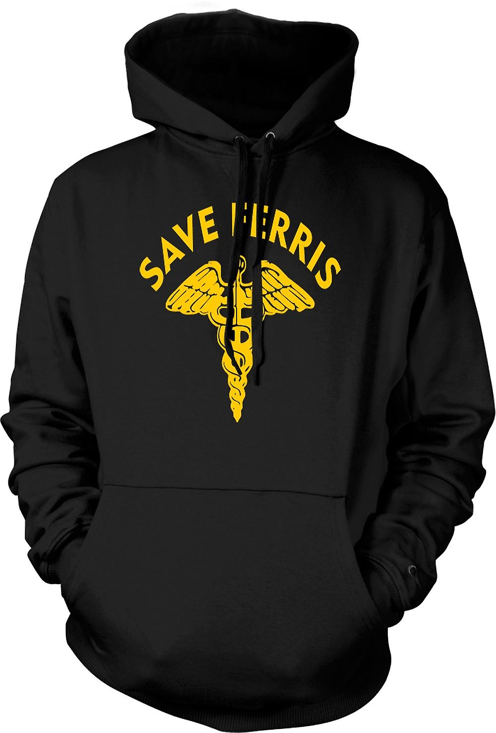 Mens Hoodie - Ferris Buellers Save - Cult Movie