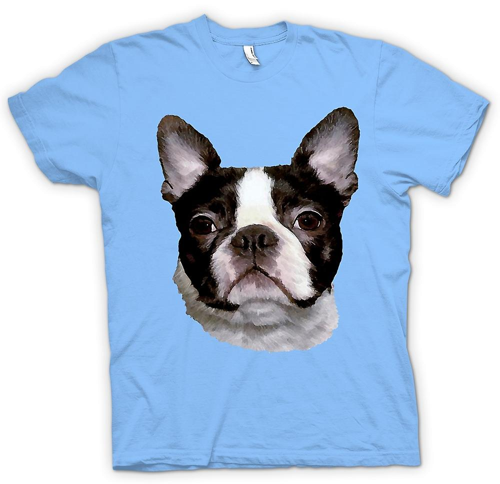 Herr T-shirt - Boston Terrier Pet - hund