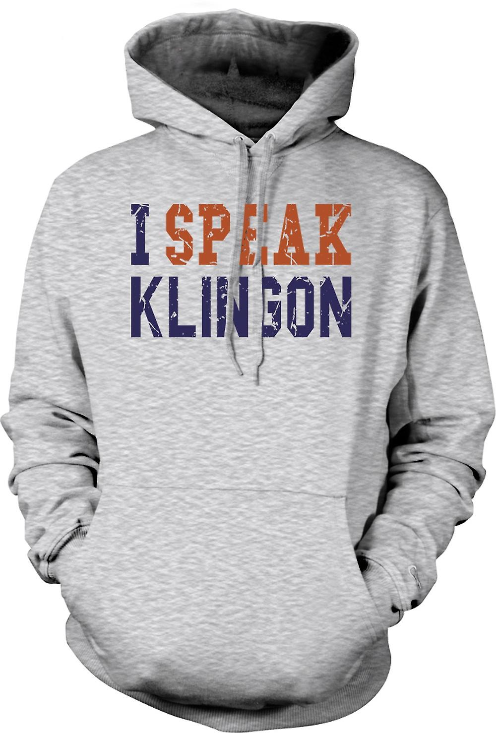 Mens Hoodie - I Speak Klingon - Funny