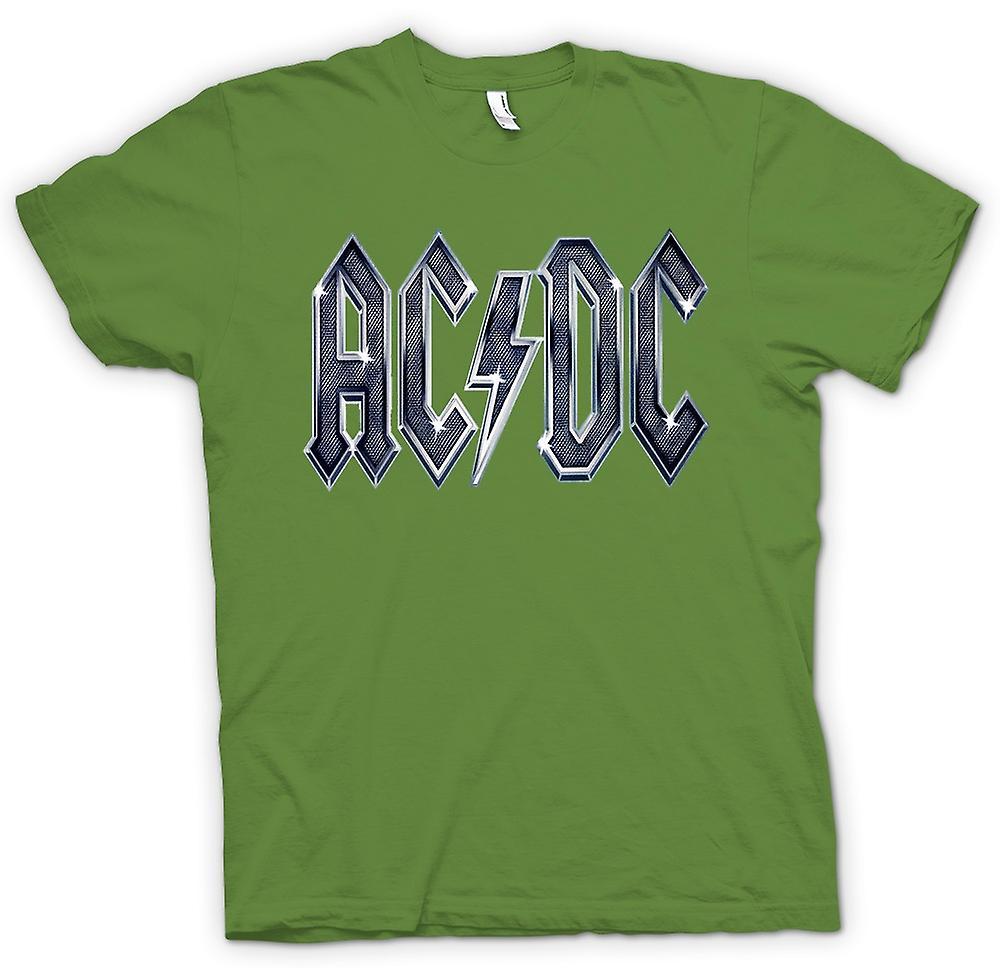 Mens T-shirt - AC/DC White Logo - Rock