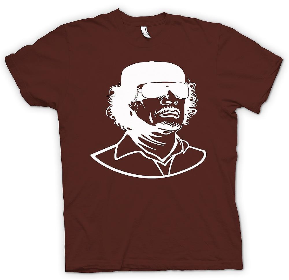 Ritratto del dittatore libico di mens t-shirt - Gheddafi-