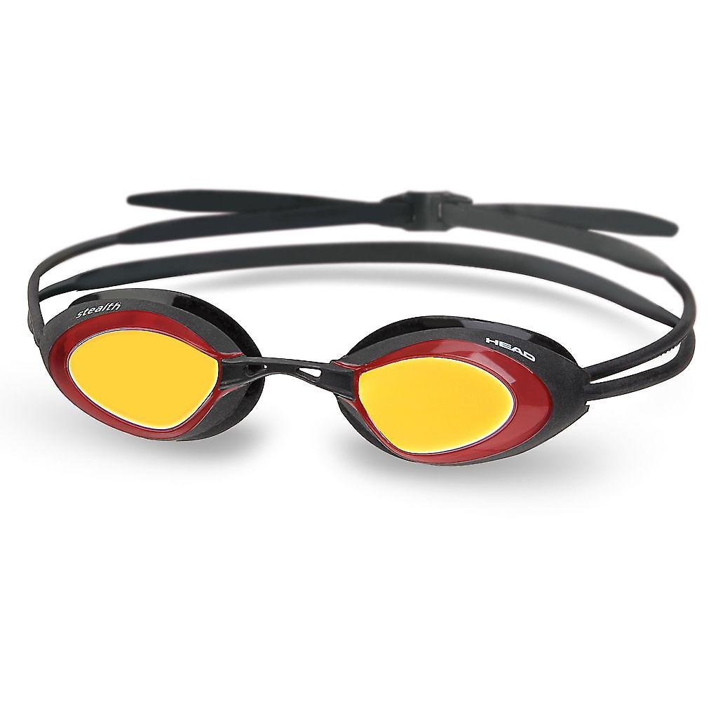 Head Stealth Laser Racing Swimming Goggle - Mirrored Lenses - Black