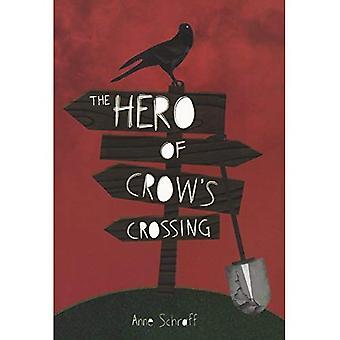 Der Held auf Crow ist (rote Nashorn) überqueren.
