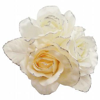 Satin feminin Fabric Flower Brautjungfer Braut Kleider & Kuchen Brosche